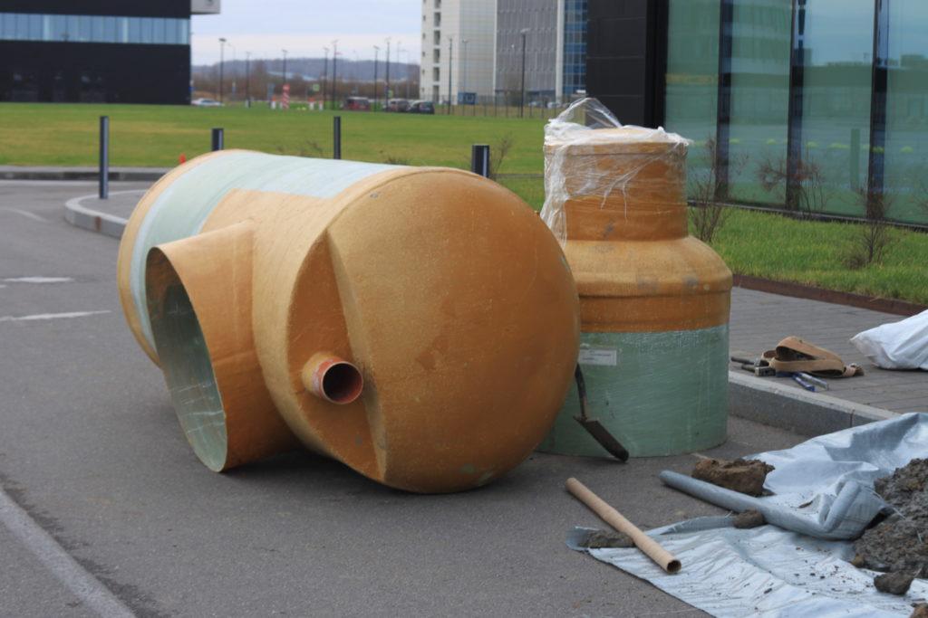 Монтаж жироотделителя АктивСток для комплекса отелей Пулковское шоссе