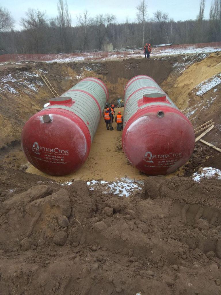 Пожарные резервуары АктивСток PR 170 м3 для Водоканала г.Воронеж