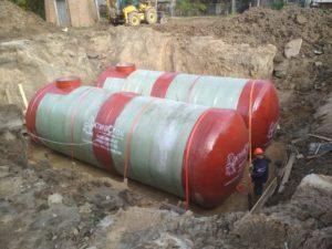 Пожарные резервуары 100м3 и 60м3 *2 для производственной площадки в Московской области