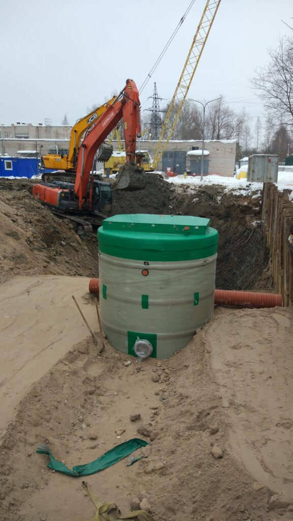 Монтаж ЛОС и КНС 3000х6000 на производственной площадке Nestle в г.Вологда