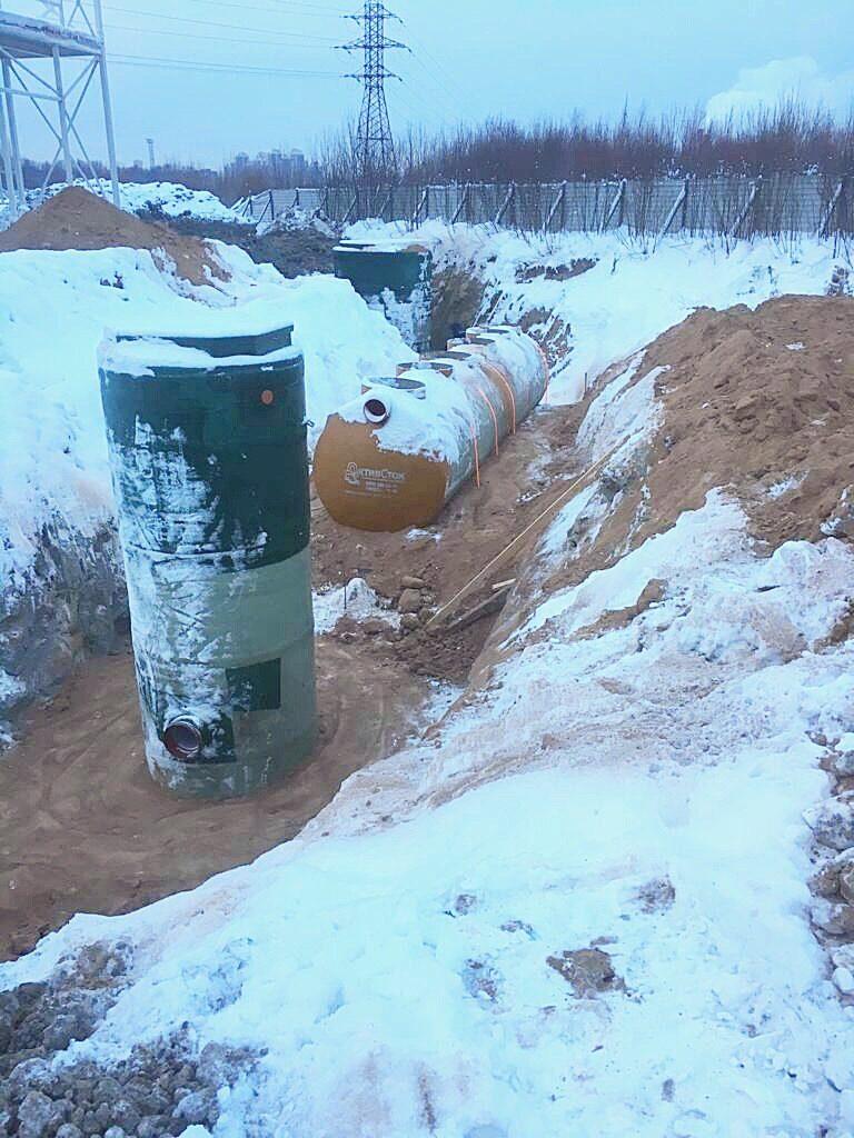 Монтаж Очистных сооружений ливневых стоков на производственной площадке в Московской области
