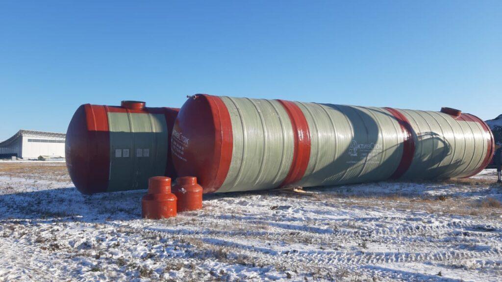 Пожарные резервуары 170м3 для производства оборудования химической отрасли в г. Воронеж