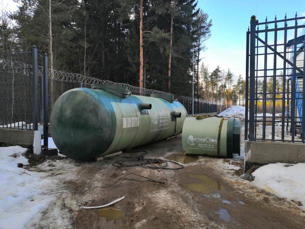 Горизонтальная двухкамерная КНС для здания МВД в Ленинградской области совместно с Setl Group 2021