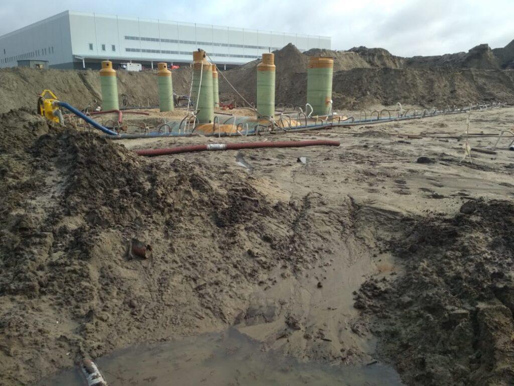 Очистные сооружения с аккумулирующими резервуарами для Складского комплекса г.Казань 2021