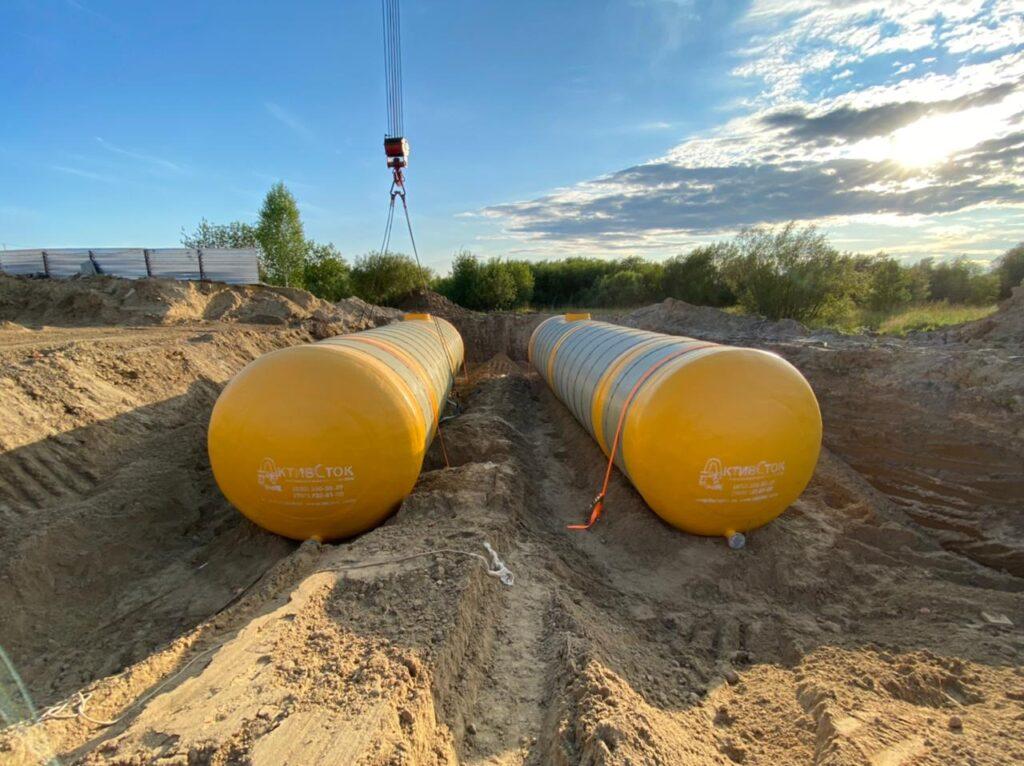 Резервуары из стеклопластика 90м3 для ДДО на ул Архитектора Болдырева в г.Томск 2021