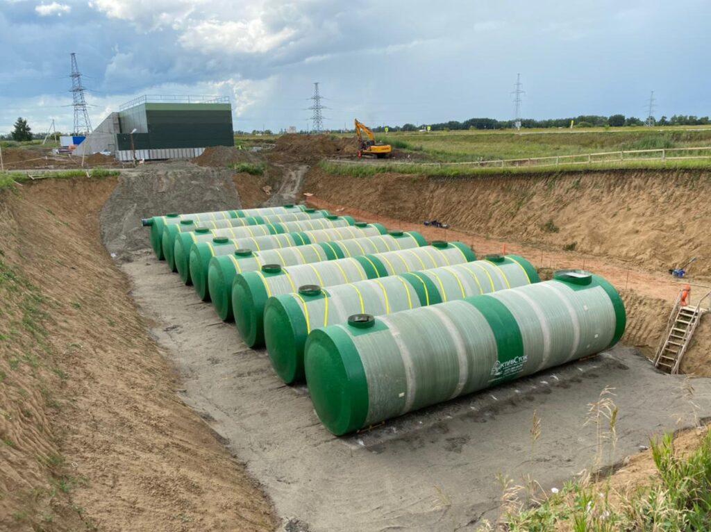 Очистные сооружения с аккумулирующими резервуарами и КНС 1200м3 для PEPSICO 2021